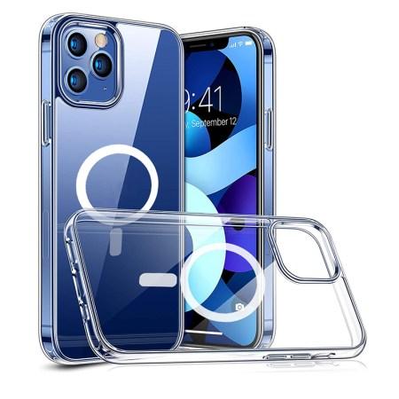 iPhone 12 Pro Max Magsafe Magnetisk Gennemsigtig Silikone Cover