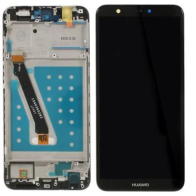 Huawei P Smart 2018 Sort Med Ramme Lcd Skærm Oem Kvalitet