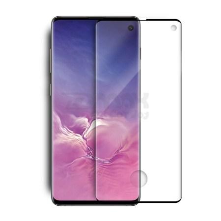 Samsung S10  Plus Full Skærmbeskyttelse  - Sort