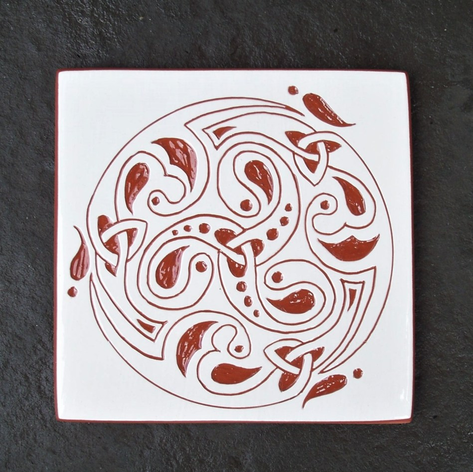 6 in. Square 'Doug' Spiral Knot Tile Trivet- $20.