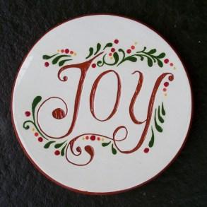"6 "" JOY Tile Trivet - $25."