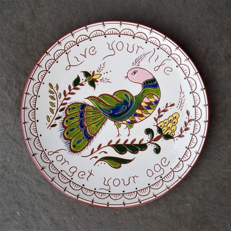 8 in. Live Your Life Plate - $39.