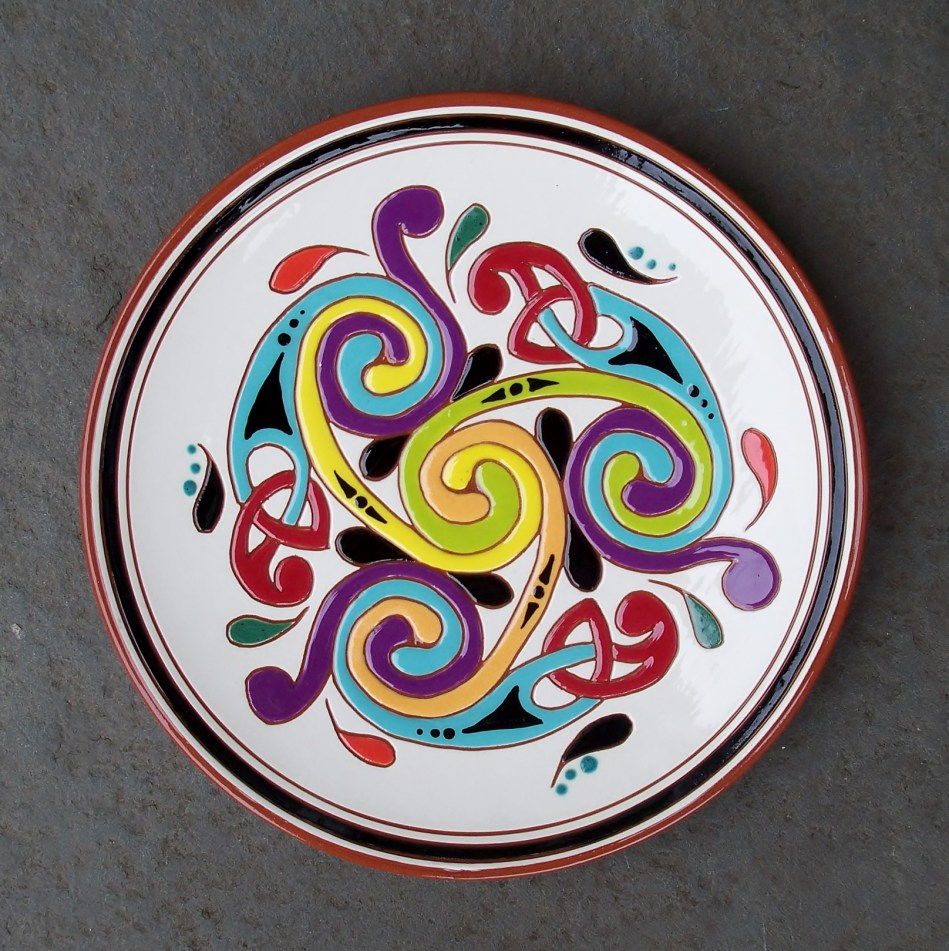 8 in. Spiral Knotwork Plate - $39.