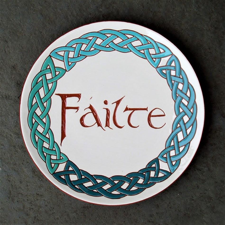 8 in. FAILTE Plate - $39.