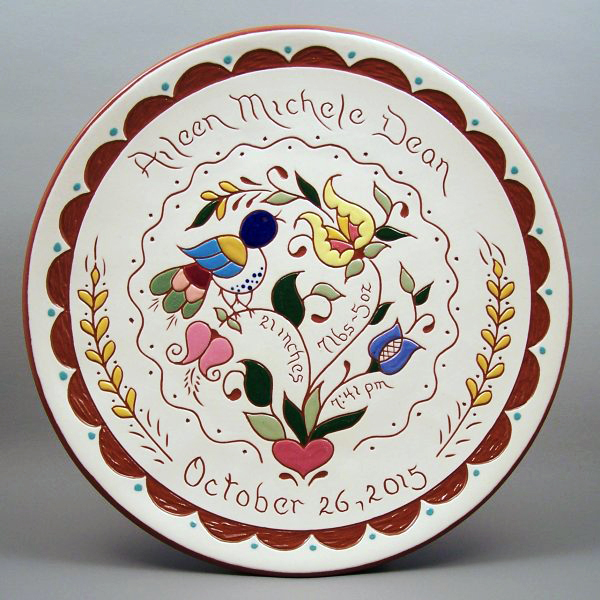 #22 - 10 in. Birth Plate - $49.
