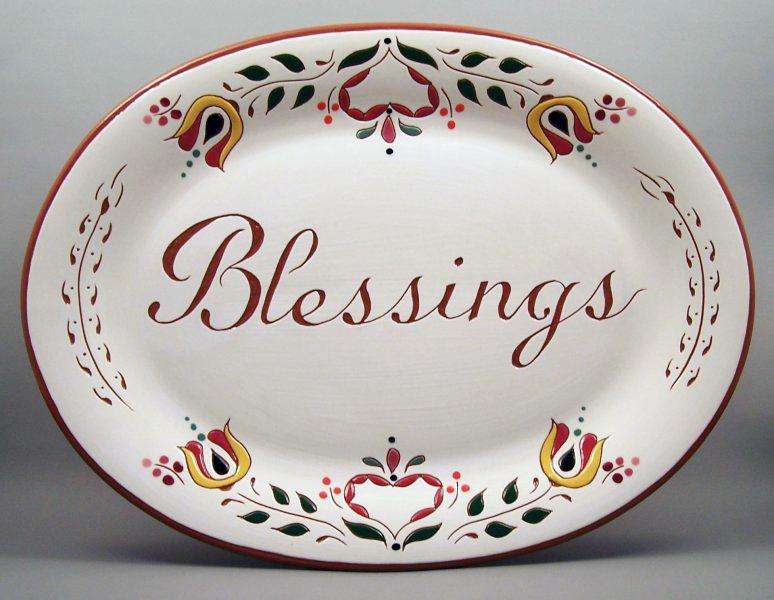10 in. x 13 in. Blessings Platter - $75