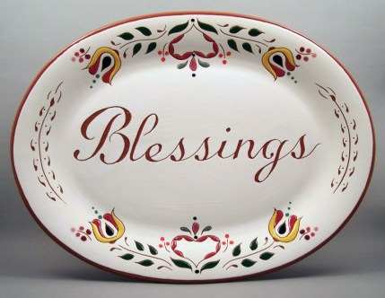 10 in. x 13 in. Blessings Platter - $75