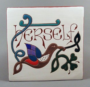 6 in. square Herself tile trivet - $25.