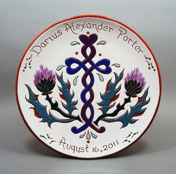 #19 - 8 in. Birth Plate - $39.
