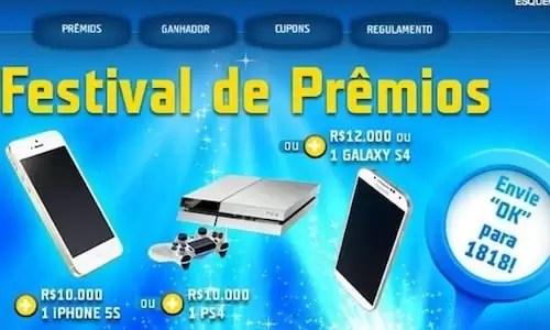 Cadastrar SMS na Promoção TIM FESTIVAL DE PRÊMIOS