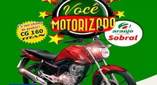 Promoção Araújo Supermercados Você Motorizado