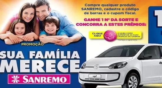 Promoção Sua Família Merece Sanremo - Rede da Promoção