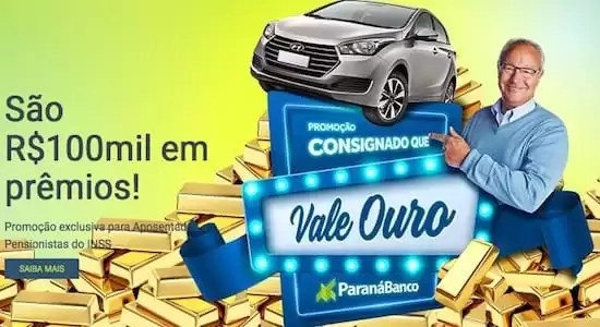 Promoção Consignado Que Vale Ouro ParanáBanco - Rede da Promoção