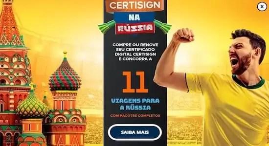 Promoção CERTISIGN na Rússia Data dos Sorteios - Rede da Promoção