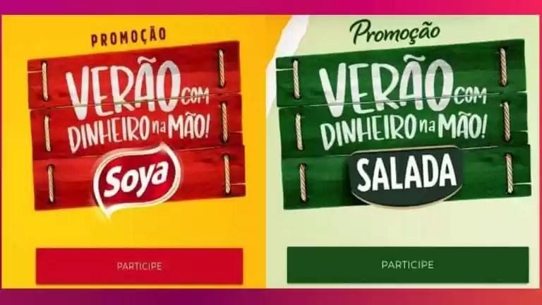 Promoção Soya e Salada Verão Com Dinheiro na Mão - Rede da Promoção