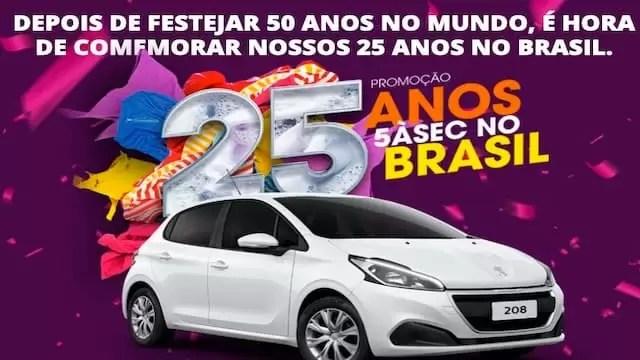 Promoção 5ASEC 25 Anos no Brasil