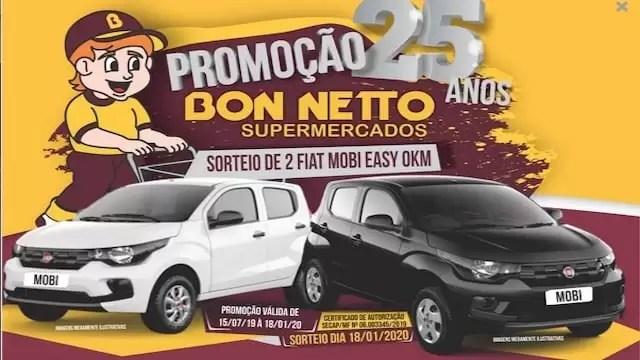 Promoção BON-NETTO Supermercados 25 Anos - Rede da Promoção