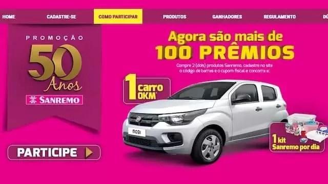 Aniversário SANREMO 50 Anos 100 Prêmios