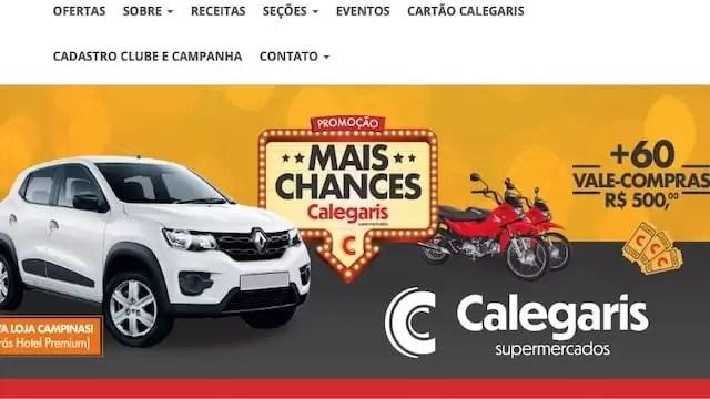 Promoção Mais Chances Supermercado Calegaris