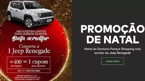 Santana Parque Shopping Promoção de Natal