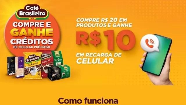 Café Brasileiro Compre e Ganhe Créditos