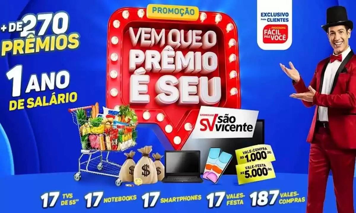 Promoção Supermercados São Vicente 2021 Renova Sua Casa