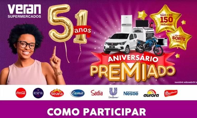Promoção Veran Supermercados Aniversário Premiado 51 Anos