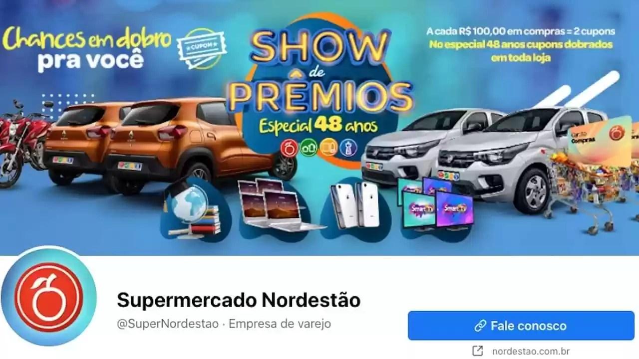 Promoção Show de Prêmios Aniversário Nordestão 2020