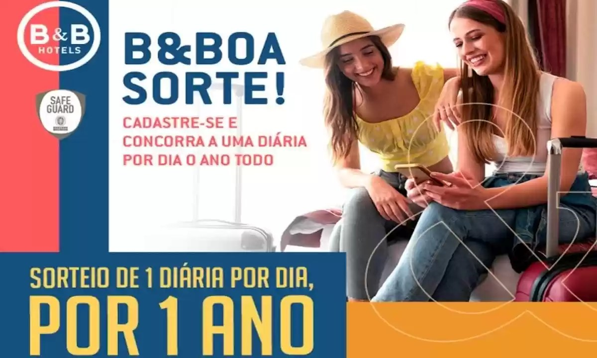 Promoção B&B Hotel Sorteio Especial Diárias Grátis Todo Dia em 2021