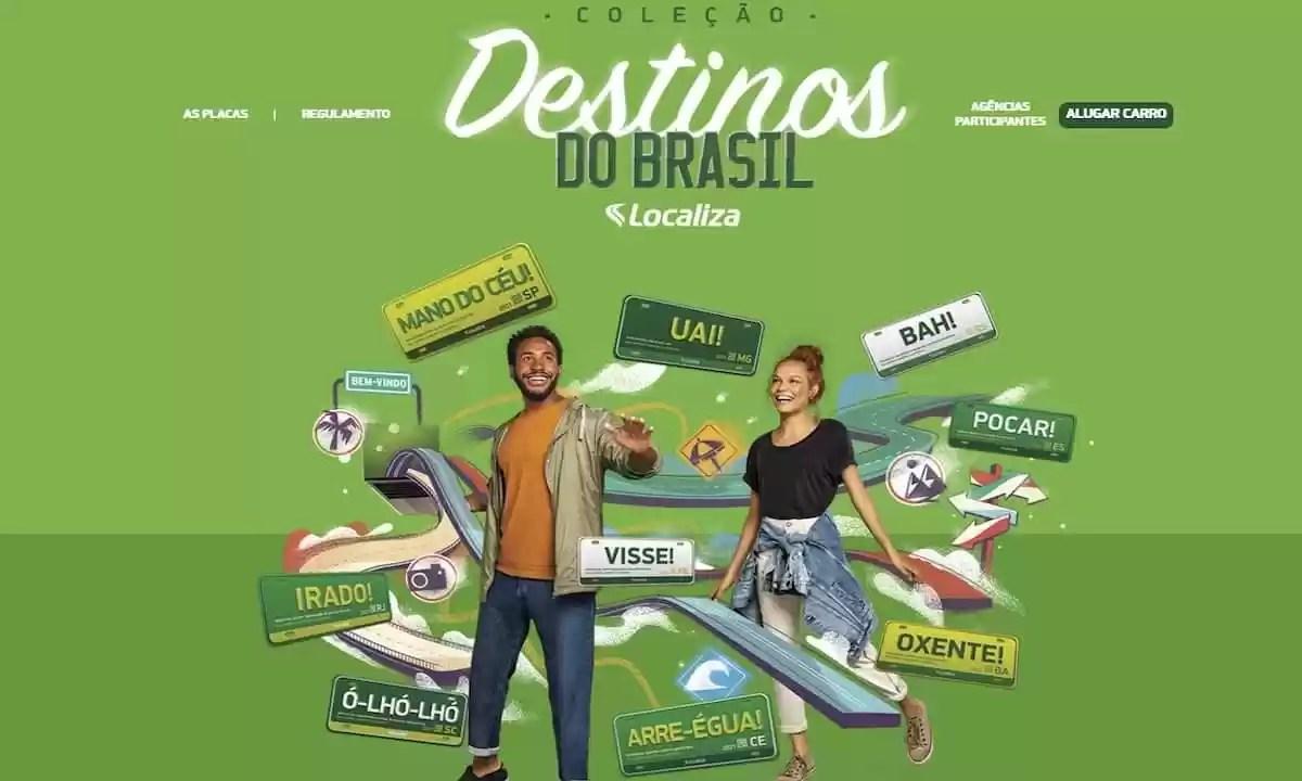 Promoção Localiza Coleção Destinos do Brasil 2021