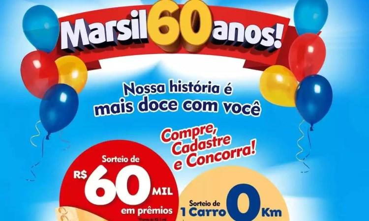 Promoção Marsil Atacadista 2021 Aniversário 60 Anos