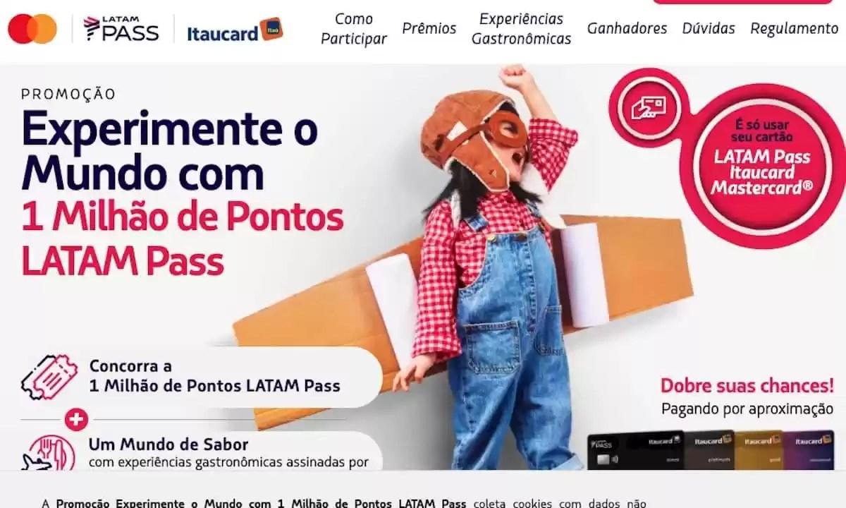 EXPERIMENTE O MUNDO com 1 Milhão de Pontos Latam Pass Mastercard