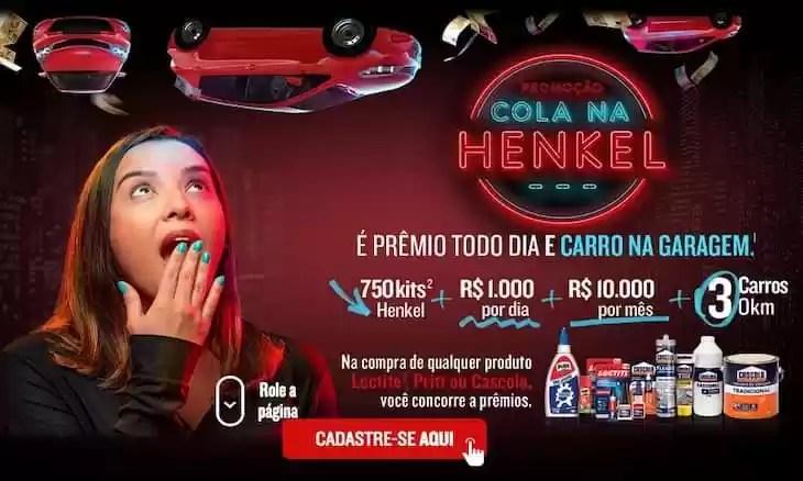 Promoção Cola na Henkel
