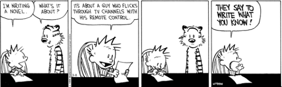 calvin and hobbes writing a novel