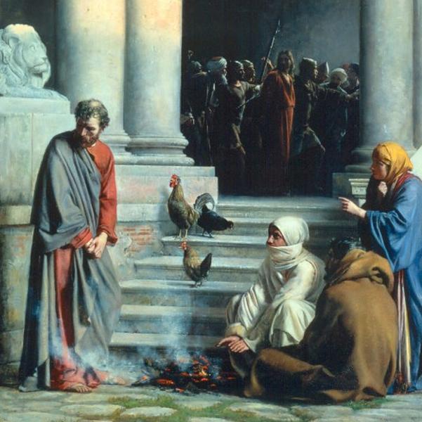 Six Denials of Jesus by Peter
