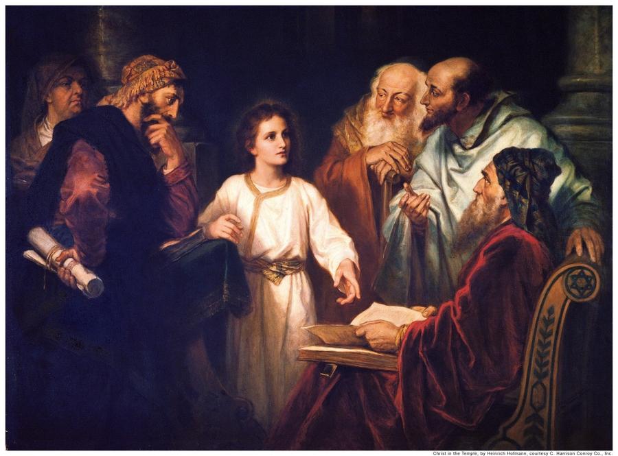 Luke 2 boy Jesus in the temple