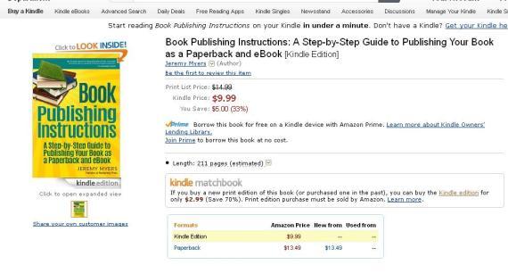 Book Publishing Instructions on Amazon