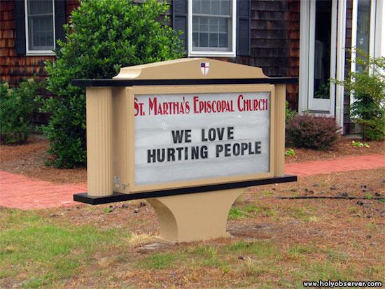 we love hurting people