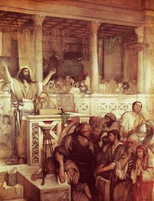 Jesus teaching Luke 4