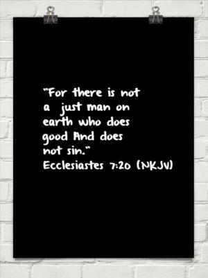 Ecclesiastes 7 20