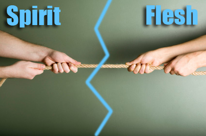 Romans 8 flesh vs spirit
