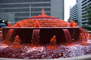 fountain of blood