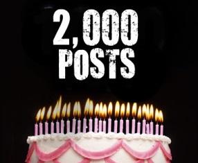 2000 Blog Posts!