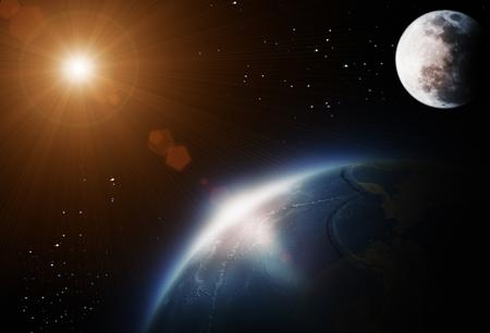 Genesis 1:14-19 Sun moon stars