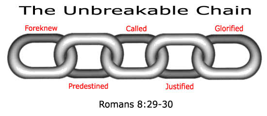 Romans 8:28-39 chain of eternal security