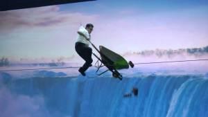 faith tightrope walk niagara falls wheelbarrow