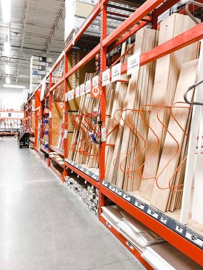 Home Depot Lumber Aisle