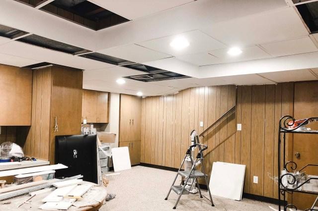 Ceiling Tiles Progress