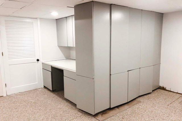 Basement Cabinets After