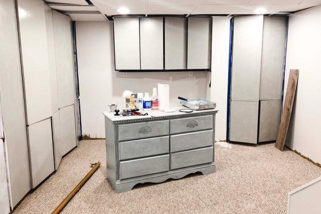 Basement Cabinets Second Coat